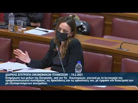 Ομιλία στη Διαρκή Επιτροπή Οικονομικών Υποθέσεων 2021 02 19